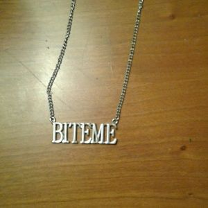 Jewelry - 🎉3/ $10 Necklace that says bite me